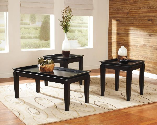 Ashley Furniture Delormy Series 3 Piece Coffee And End Table Set