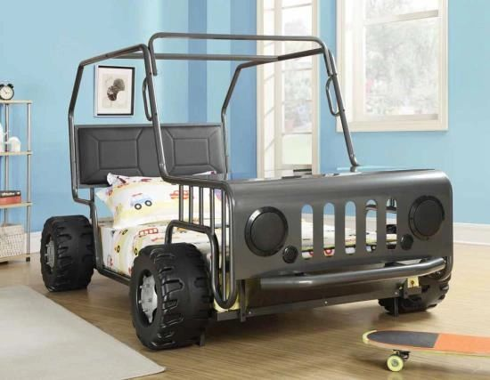 Coaster Twin Size Jeep Bed. AVAILABLE IN TWO COLORS | Factory