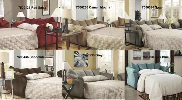 Ashley Furniture Darcy Sleeper Sofa Full Size 6 Colors To Choose