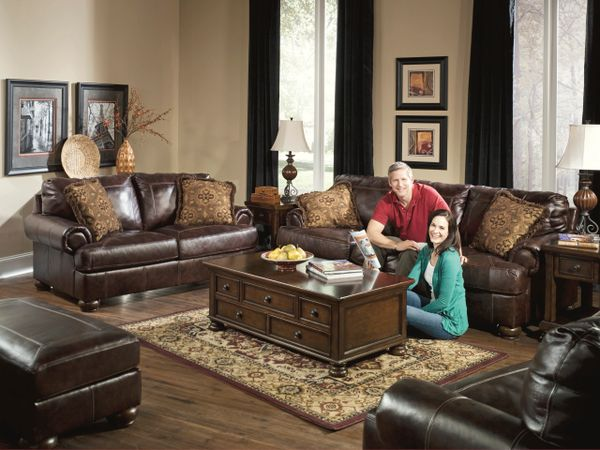 Ashley Furniture Axiom Series Sofa And Love Seat Set Can
