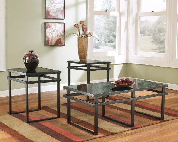 Ashley Furniture T 180 Lanely Glass 3 Piece Coffee And End Table Set