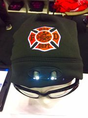 Black Firefighter LED Beanie
