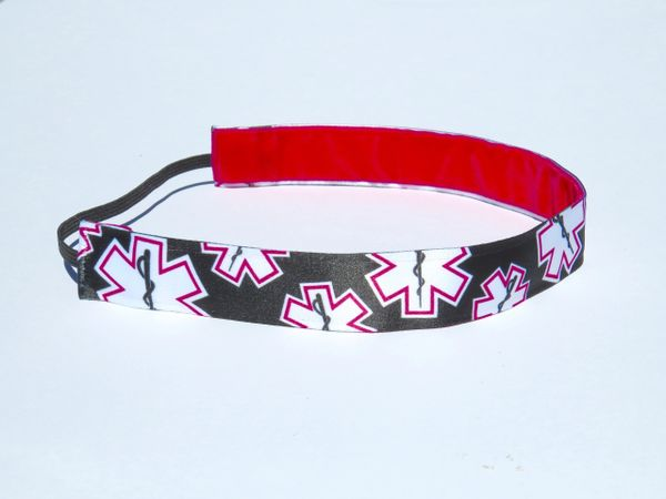 EMS Headband - Black with a KISS of PINK
