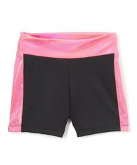 Dive pink metallic bike short