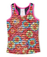 Girl Power active wear tank with back mesh detail