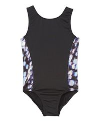 PERFECT FIT BLACK WITH SILVER LEOTARD