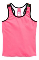 Hot pink athletic tank with back detail