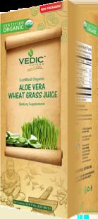 Wheat Grass in Aloe Vera