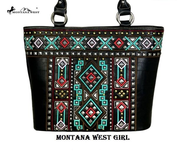 f611ae09234eb Montana West Black Aztec Native American Concealed Handgun Tote Bag |  Montana West Girl: Montana West Bags: gimme5 for 5% Discount