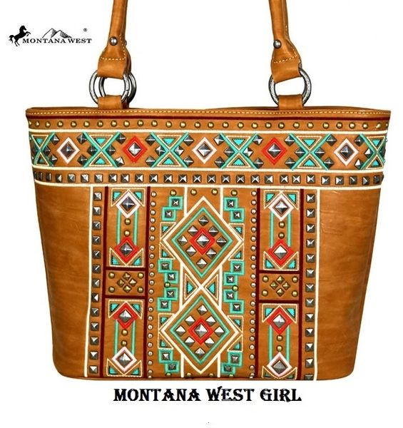 35582379bc44e Montana West Brown Aztec Native American Concealed Handgun Tote Bag |  Montana West Girl: Montana West Bags: gimme5 for 5% Discount