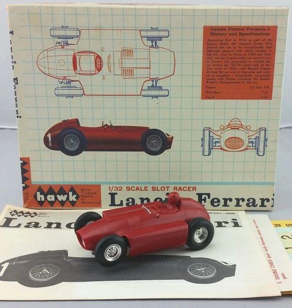 Vintage 1965 HAWK Lancia Ferrari 1/32 Scale Slot Car Kit Kit Number  SK321-600 In Box Tested