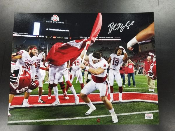 9233decbbd7 Baker Mayfield Signed 11x14