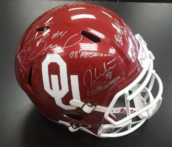 02c7e05f1 5 Heisman Autographed Full Size Speed Helmet