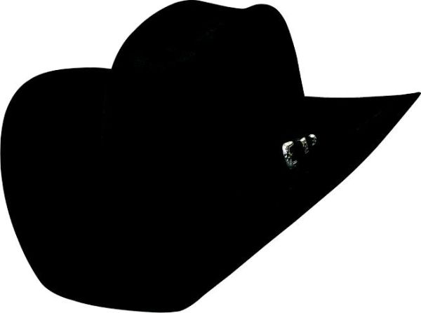 Bullhide Hats 0518Bl Rodeo Round-Up Collection Legacy 8X 7 Black Cowboy Hat   0504fdf6dadb