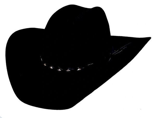 Bullhide Hats 0573Bl True West 8X 6 3 4 Black Cowboy Hat  5738163bed2