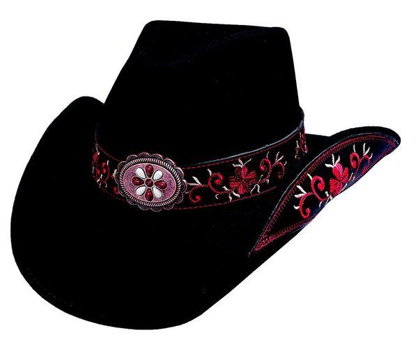 Bullhide Hats 0476Blr All For Good Medium Black Red Cowboy Hat  bcb68764eb3