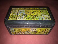 Hand-painted wooden box from Mexico