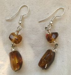 Amber Earring from Mexico