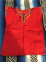 Red Children's Shirt from Mexico