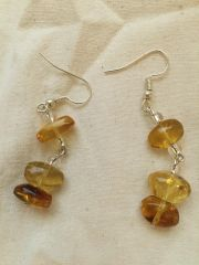 Amber Earrings from Mexico