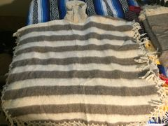 Striped Wool Pancho from Chiapas