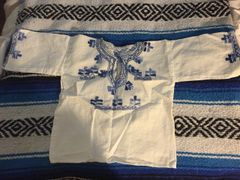 Blue and White Children's Shirt from Mexico