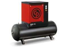 15 HP, CHICAGO PNEUMATIC ROTARY SCREW AIR COMPRESSOR WITH TANK, 208/230/460/3/60, QRS 15 HP 125 PSI