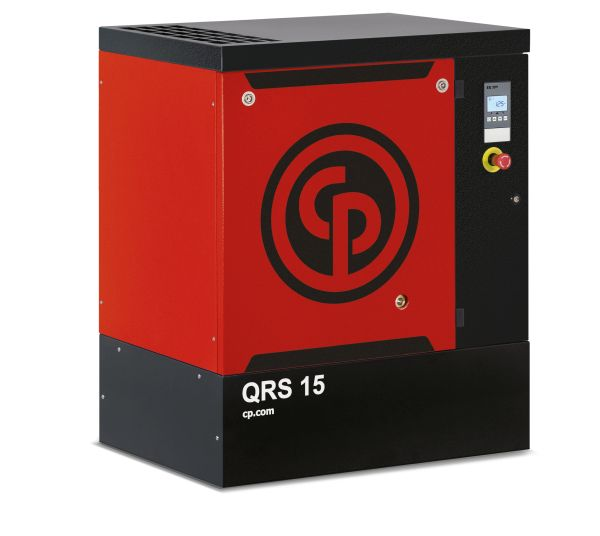 15 HP, CHICAGO PNEUMATIC ROTARY SCREW AIR COMPRESSOR BASE MOUNT, 208/230/460/3/60, QRS 15 HP 125 PSI