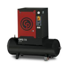 7.5 HP, CHICAGO PNEUMATIC ROTARY SCREW AIR COMPRESSOR WITH TANK, 230/1/60, QRS 7.5 HP-1