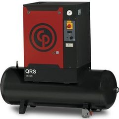 10 HP, CHICAGO PNEUMATIC ROTARY SCREW AIR COMPRESSOR WITH TANK, 208/230/460/3/60, QRS 10 HP