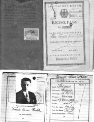 "Passport issued to a Jewish man with red ""J"""