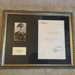 Heinrich Himmler signed document