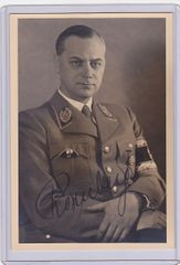 Alfred Rosenberg signed portrait photo