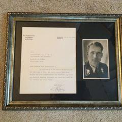 Rudolf Hess signed letter