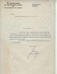Hermann Goering signed letter