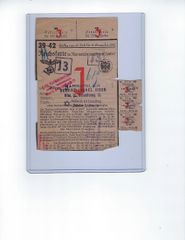Jewish ration card for marmelade