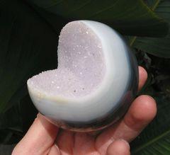 Agate Druzy Sphere,