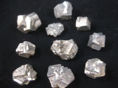 10 Pyrite Crystals
