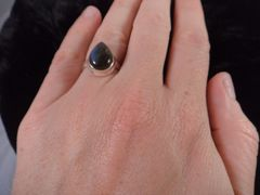Labradorite Ring Size 7 Sterling Silver