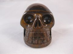 Golden Tigereye Skull