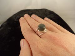 Labradorite Ring Size 8 Sterling Silver