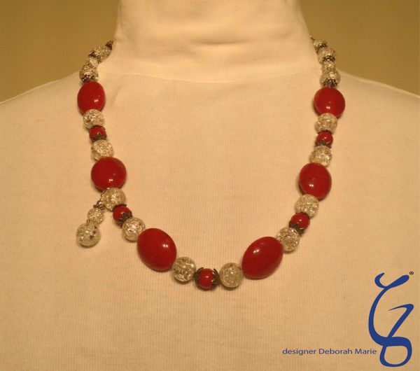 Red & Crystal with Snowman-SOLD