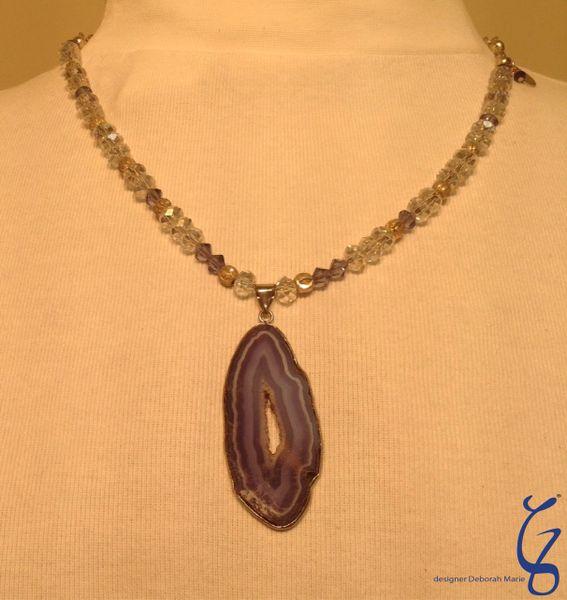 Swarovski Crystal Blueish Purple-SOLD