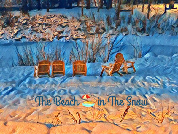 THE BEACH IN THE SNOW