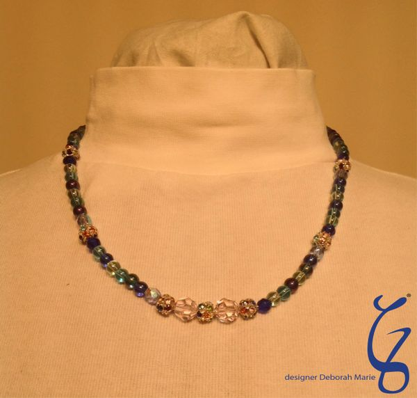 Swarski Crystals with Rainbow Blue