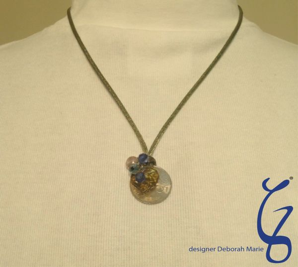 Silk Pendent with a Coin