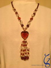 Amber Heart Pendant