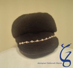 Silver Trim on Vintage Hat
