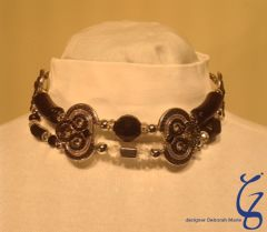 Black & Silver English Choker