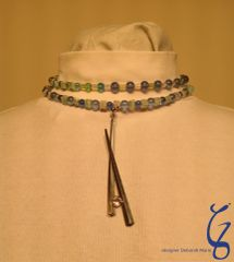 Blue Choker with Rising Crystal